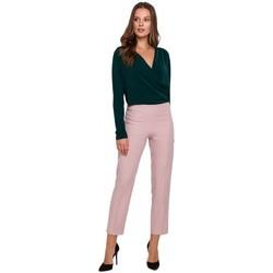 Îmbracaminte Femei Pantaloni  Makover K035 Pantaloni cu talie elastică - crep roz
