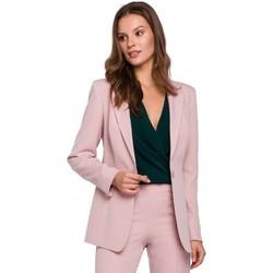Îmbracaminte Femei Sacouri de costum Makover K036 Blazer cu un singur fund - crep roz