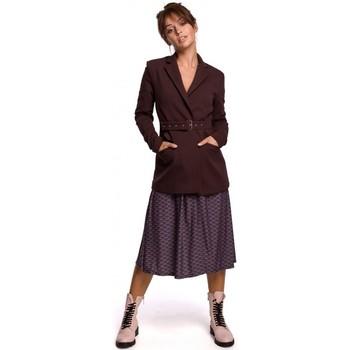 Îmbracaminte Femei Sacouri de costum Be B159 Blazer cu centură cu cataramă - verde închis