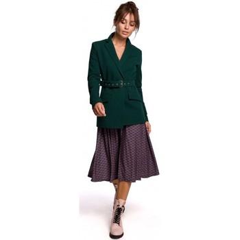 Îmbracaminte Femei Sacouri de costum Be B159 Blazer cu centură cu cataramă - albastru marin
