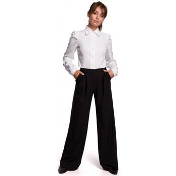 Îmbracaminte Femei Cămăși și Bluze Be B165 Cămașă cu mâneci bufante - alb