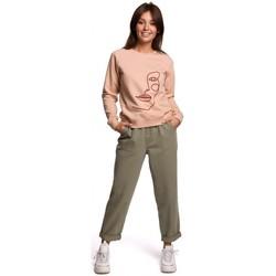 Îmbracaminte Femei Hanorace  Be B167 Pulover cu imprimeu în față - bej