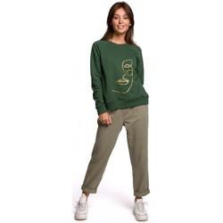 Îmbracaminte Femei Hanorace  Be B167 Pulover cu imprimeu în față - verde gazon