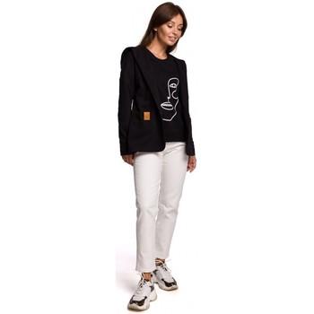 Îmbracaminte Femei Sacouri și Blazere Be B180 Blazer cu glugă din tricot de bumbac - negru