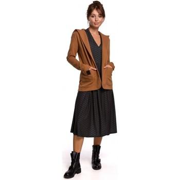 Îmbracaminte Femei Sacouri și Blazere Be B180 Blazer cu glugă din bumbac cu glugă - caramel