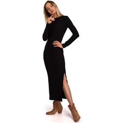 Îmbracaminte Femei Rochii lungi Moe M544 Rochie lungă cu despicătură pe picior - negru