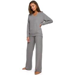 Îmbracaminte Femei Pantaloni fluizi și Pantaloni harem Style S249 Pantaloni cu picior larg tricotat Lounge - gri