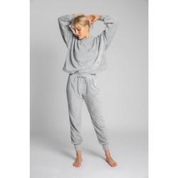 Îmbracaminte Femei Pantaloni de trening Lalupa LA004 Pantaloni sport din tricot pufos - gri deschis