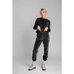 Îmbracaminte Femei Pantaloni de trening Lalupa LA012 Pantalon sport din catifea - grafit