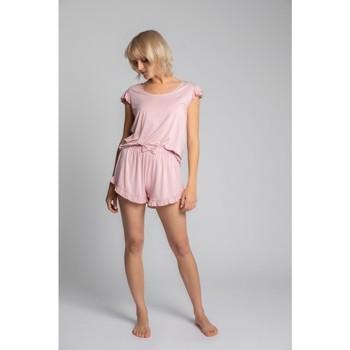 Îmbracaminte Femei Topuri și Bluze Lalupa LA023 Top din vâscoză cu mâneci cu volane - roz