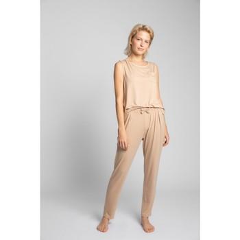 Îmbracaminte Femei Pijamale și Cămăsi de noapte Lalupa LA025 Pantaloni de pijama din viscoză - cappuccino