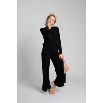 Îmbracaminte Femei Pantaloni fluizi și Pantaloni harem Lalupa LA026 Pantaloni din vâscoză cu croială înaltă - negru