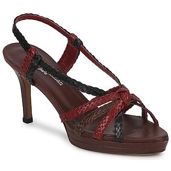 Pantofi Femei Sandale și Sandale cu talpă  joasă Stéphane Kelian PRISCILLE Maro / Roșu