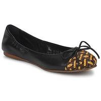 Pantofi Femei Balerin și Balerini cu curea Stéphane Kelian WALLY Negru / Galben