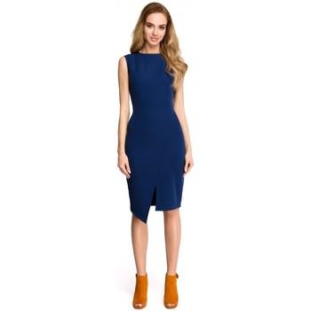Îmbracaminte Femei Rochii scurte Style S105 Rochie fără mâneci fără mâneci - albastru marin