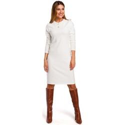 Îmbracaminte Femei Rochii scurte Style S178 Rochie pulover cu mânecă lungă - ecru