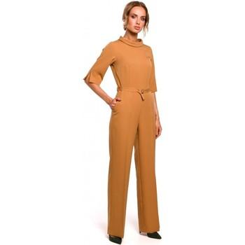 Îmbracaminte Femei Jumpsuit și Salopete Moe M463 Jumpsuij cu guler înalt - scorțișoară
