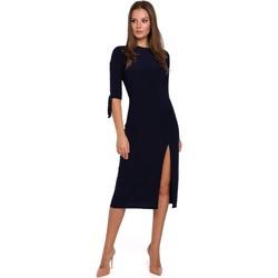 Îmbracaminte Femei Rochii scurte Makover K007 Rochie din tricot cu mâneci legate - albastru marin