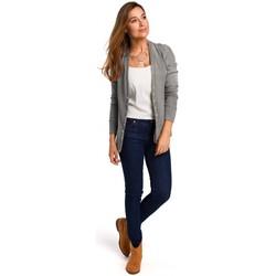Îmbracaminte Femei Topuri și Bluze Style S198 Cardigan cu nasturi cu presiune - gri