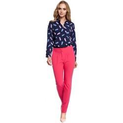 Îmbracaminte Femei Pantaloni fluizi și Pantaloni harem Moe M303 Pantaloni cu picior drept - roz