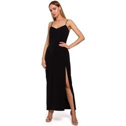 Îmbracaminte Femei Rochii lungi Moe M485 Rochie de seară maxi cu despicătură înaltă - negru