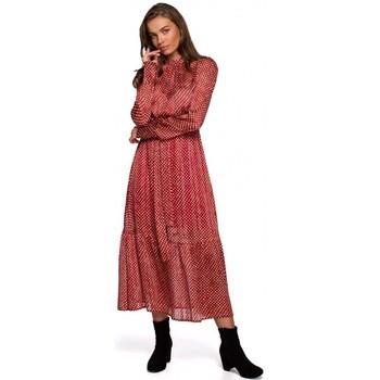 Îmbracaminte Femei Rochii lungi Style S238 Sukienka midi szyfonowa w groszki - model 3