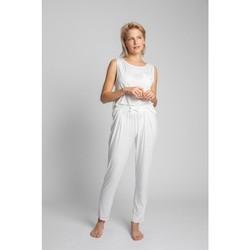 Îmbracaminte Femei Pijamale și Cămăsi de noapte Lalupa LA025 Pantaloni de pijama din viscoză - ecru