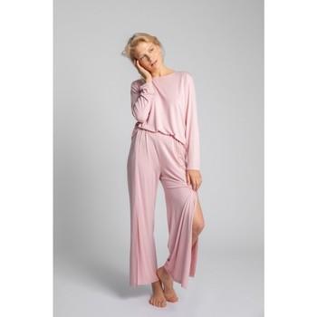Îmbracaminte Femei Pijamale și Cămăsi de noapte Lalupa LA026 Pantaloni din vâscoză cu croială înaltă - roz