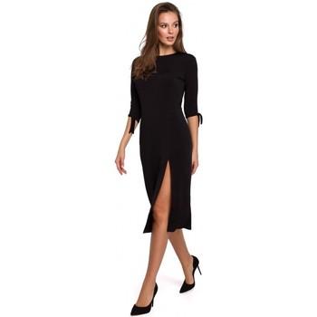 Îmbracaminte Femei Rochii scurte Makover K007 Rochie din tricot cu mâneci legate - negru