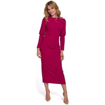Îmbracaminte Femei Rochii lungi Makover K079 Rochie cu lungime medie și spate despicat - prună