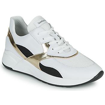 Pantofi Femei Pantofi sport Casual NeroGiardini FILOMENE Alb / Negru / Auriu