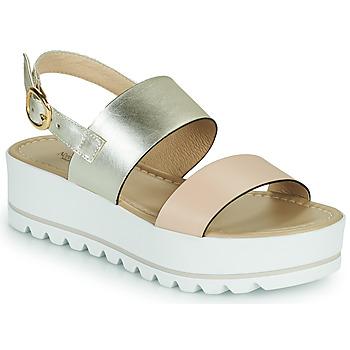Pantofi Femei Sandale  NeroGiardini SABRI Alb / Auriu
