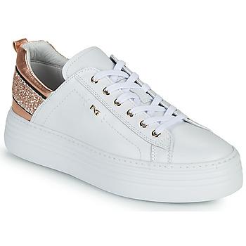 Pantofi Femei Pantofi sport Casual NeroGiardini GATTO Alb / Roz / Gold