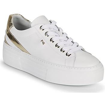 Pantofi Femei Pantofi sport Casual NeroGiardini LAITO Alb / Auriu