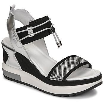 Pantofi Femei Sandale  NeroGiardini CAMINO Negru / Argintiu