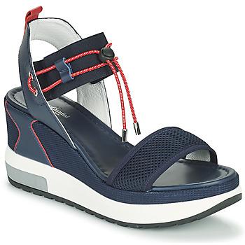 Pantofi Femei Sandale  NeroGiardini CAMINO Albastru / Roșu