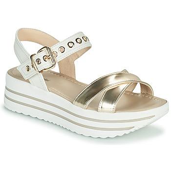 Pantofi Femei Sandale  NeroGiardini TIMMA Alb / Auriu