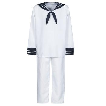 Îmbracaminte Bărbați Deghizări Fun Costumes COSTUME ADULTE MARIN BLANC Alb