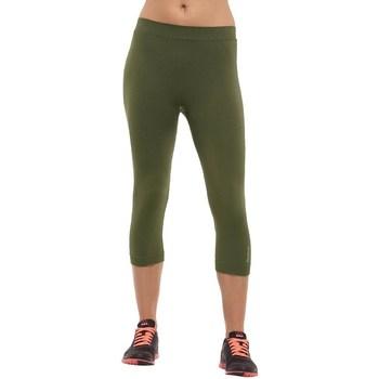 Îmbracaminte Femei Pantaloni  Reebok Sport Seamless Capri Verde