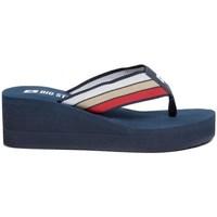 Pantofi Femei  Flip-Flops Big Star FF274A301 Albastru marim