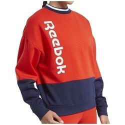 Îmbracaminte Femei Hanorace  Reebok Sport TE Linear Logo Crew Roșii, Albastru marim