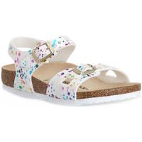 Pantofi Copii Sandale  Birkenstock RIO CONFETTI WHITE CAL S Bianco