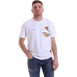Îmbracaminte Bărbați Tricouri mânecă scurtă Disclaimer 21EDS50512 Alb
