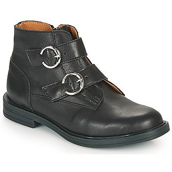 Pantofi Fete Ghete Little Mary EMILIENNE Negru