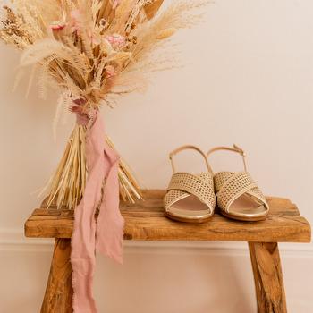 Pantofi Femei Sandale  Céleste ORANGER Auriu