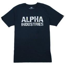 Îmbracaminte Bărbați Tricouri mânecă scurtă Alpha T-shirt  Camo Print bleu nuit/blanc
