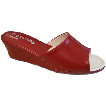 Pantofi Femei Papuci de vară Milly MILLY103ros rosso