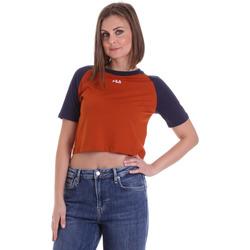 Îmbracaminte Femei Tricouri mânecă scurtă Fila 687919 Portocale