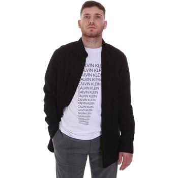 Îmbracaminte Bărbați Cămăsi mânecă lungă Calvin Klein Jeans K10K105993 Negru