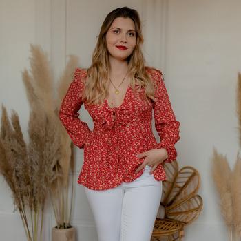 Îmbracaminte Femei Topuri și Bluze Céleste ROSSIGNOL Roșu / Multicolor